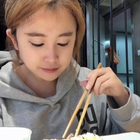 【叶子子👄美拍】#吃秀#早午餐,好吃😋,这几天状...