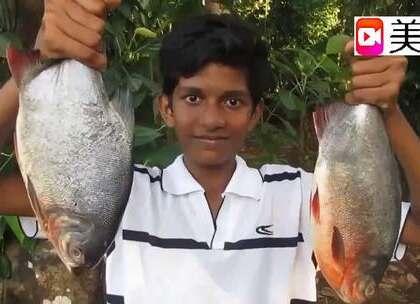 印度村民买了两条鱼,看看是怎么吃的!