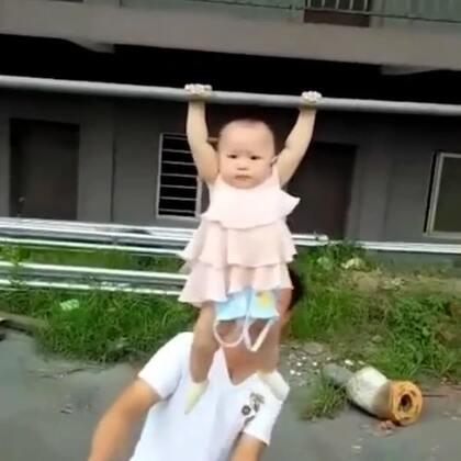爸爸带的小孩👍好会玩👍#精美电影##搞笑##宝宝#