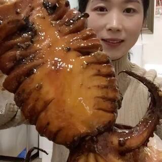 #吃秀#香辣大鱿鱼,太香啦!#我想上热门#