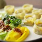 在韩国经常可以吃到的酸辣味的辣白菜馅蒸饺#美食##辣白菜##地方美食#