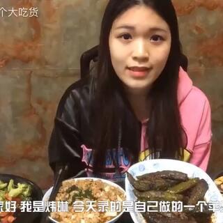 自制8寸苹果派,肉酿虎皮青椒,肉沫蒸豆腐,西兰花炒脆皮肠。#吃秀##中国吃播#