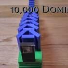 10,000 块多米诺骨牌摆了将近1个月,倒下的效果超级炫,太美了!