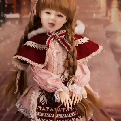 #美拍大师#提前预祝、宝贝!外孙女、圣诞节!快乐!玩的开心~😘👍🌹😊👏👏🎄🎄2017年12月18+2日给宝贝!制作搞笑、圣诞!芭比羊娃娃~