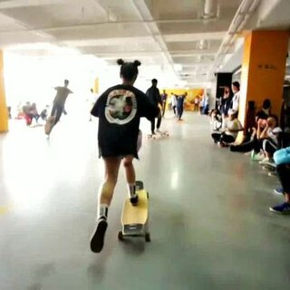 嘿嘿嘿 突然发现还有这个视频 是十月份上海你行你跳 dancing赛 #运动##长板##长板女孩#