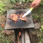 屋顶瓦煎猪扒、味道棒棒的#美食#