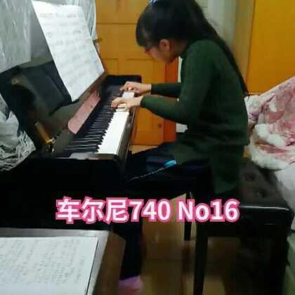 #钢琴曲#车尔尼练习曲740 No16🎵自己感觉弹这首曲子手比较别扭,难受……等以后状态好些继续接着练!#音乐##钢琴#