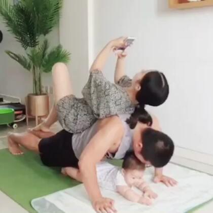 回忆宝宝5个月的全家运动带娃日常#宝宝##育儿#