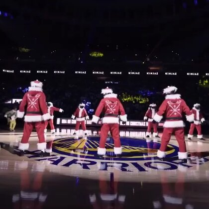 KINJAZ NBA CHRISTMAS Warriors vs Cavs 2017 (2)#舞蹈##精选##kinjaz#