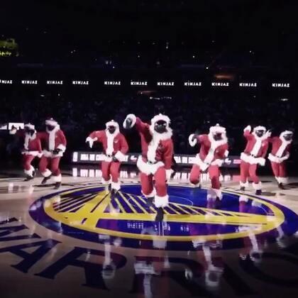 KINJAZ NBA CHRISTMAS Warriors vs Cavs 2017 (1)#精选##舞蹈##kinjaz#