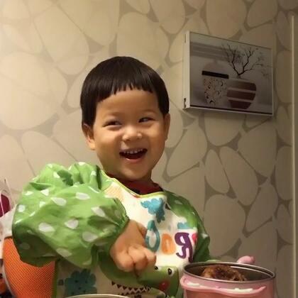 #宝宝##吃秀#今天北京可真冷,喝碗热乎乎的南瓜粥,美极啦~您今天吃神马?