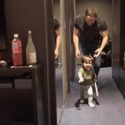 大疯子和小疯子🤪🤪🤪#宝宝##Yusen十三个月#