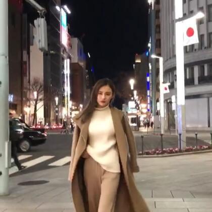 夜游东京街头,冻掉了耳朵!#日本东京##旅游#@美拍小助手