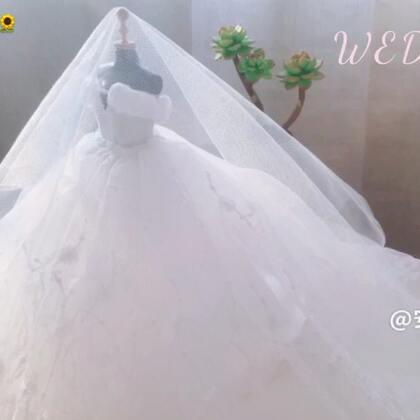 尝试着做了一个婚纱,还蛮美的。喜欢❤️#手工##宿天使专属#