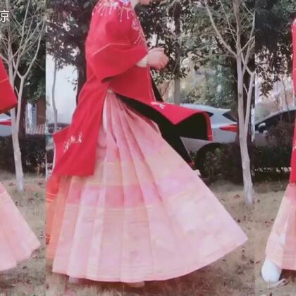 本期开箱的是远山黛汉服工作室的粉色织金马面,超级少女~#汉服日常##汉服开箱#