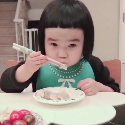 吃饺子🥟#可爱吃货小萌妞##吃货小蛮#