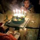 #宝宝#给哥哥过生日,差点把哥哥蜡烛也吹了