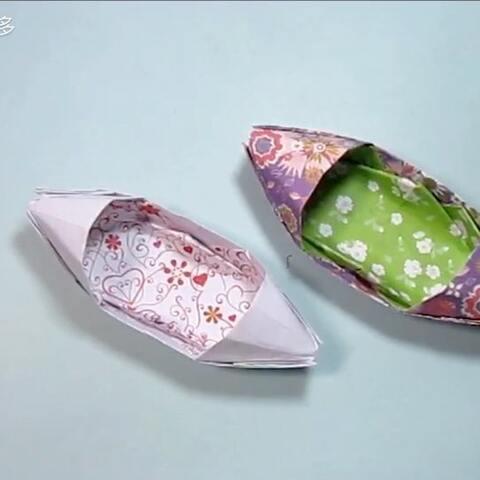 简单的手工折纸小船:乌篷船折纸教程