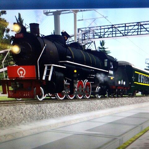 解放型蒸汽机车2158号拉快速图片