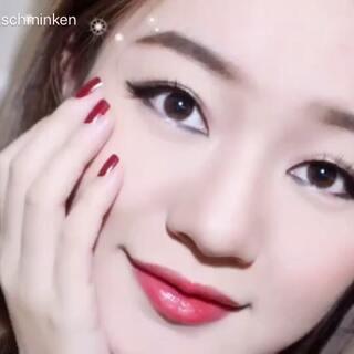 #全民美拍素人大改造##美妆##单眼皮妆容# 这算是一个浓妆吧 单眼皮眼线真的捉急 要么化了看不见 要么....你们懂😁😄