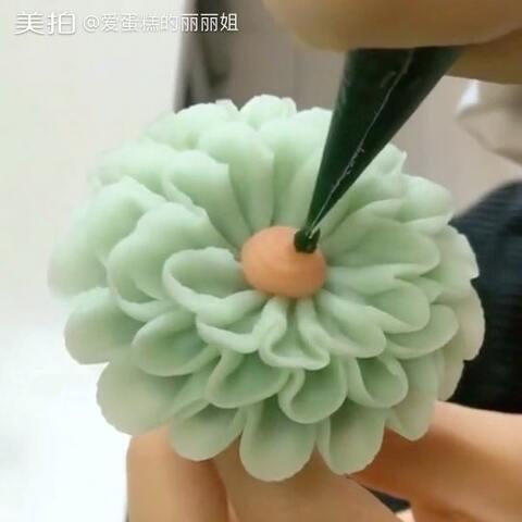 【爱蛋糕的丽丽姐美拍】#美食##韩式裱花##精选#豆沙韩式...