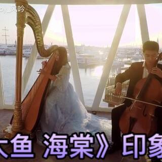 【#竖琴#&大提琴】如临幻境 周深《#大鱼海棠#》印象曲 #大鱼# 赶在我忙忙碌碌的生日这天录完了这个视频 作为纪念♪。◕◡ ◕。 * 爱一个人,攀一座山,追一个梦,不妨大胆一点 愿意陪你沉默不语,愿意和你生生不息 人生很短 感谢陪伴。