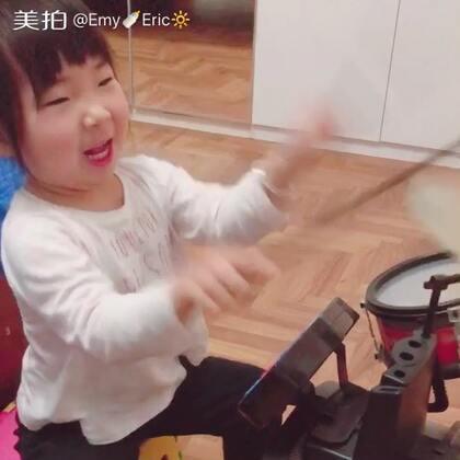 节奏感可还行?😂#宝宝##搞笑的emy#