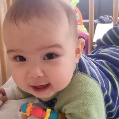 #宝宝##混血宝宝##荷兰混血小小志&柒#柒公主在努力成长中,小志在努力发展中😂😂😂