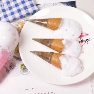 Hello~请你们吃冰淇淋呀~冬天吃冰淇淋也是很过瘾的哦~#手工##史莱姆##我要上热门#互动 几号放寒假 ?
