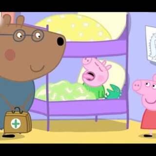 #宝宝##小猪佩奇##粉红猪小妹# 被乔治伸舌头的样子萌到~ 😂