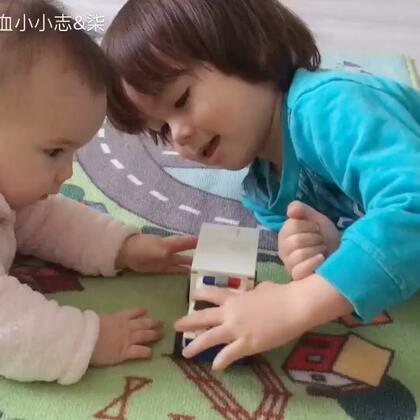 #宝宝##兄妹俩##荷兰混血小小志&柒#时间都去哪了,这两孩子都一起玩上了