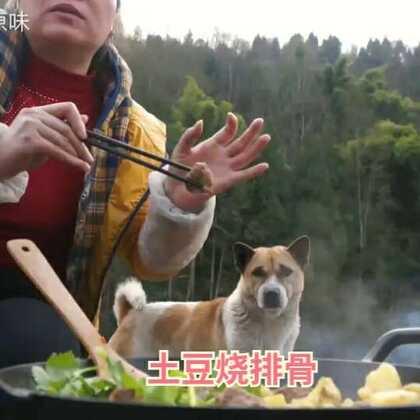 #美食##家常菜#今天去镇上买了两斤土猪排骨,烧土豆😜味道就是不一样,好好吃😁😜