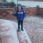2018年,爱丁堡第一场雪。姐姐们早早的就出门了,三少慢慢悠悠,能玩一会是一会儿😆