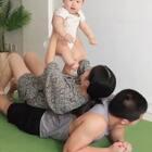 记录爸爸的夏季运动带娃日常#宝宝#