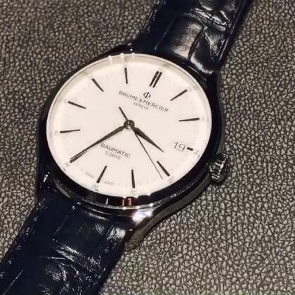 日内瓦钟表展#名士 CLIFTON BAUMATIC 腕表,采用全新自制机芯,有5天动力储存#日内瓦钟表展##2018日内瓦钟表展#