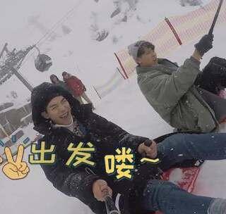 """韩国欧巴大喊""""冷死了""""也要玩的雪地项目竟然是这个?!#环球梦游记##瑞士##旅行#"""