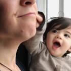 荷兰又开始刮十级妖风了👻粑粑的双下巴好玩😘#宝宝##Yusen十三个月#