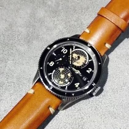 万宝龙1858系列腕表,把南北半球搬上表盘,而且会24小时转转转~#日内瓦钟表展##2018日内瓦钟表展##万宝龙#