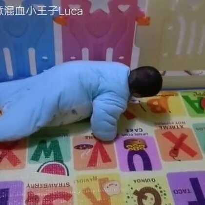 #宝宝##精选##六个月26天的宝宝#哈哈,一条毛毛虫来啦!😄😄😄穿上睡袋的宝宝还能爬来爬去!👍👍👍