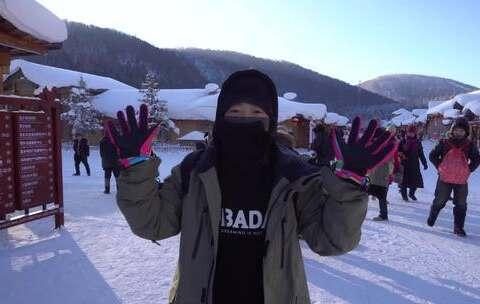【第一次小姐姐sun美拍】第一次滑雪的感觉很棒!😜在零下...