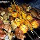 吃新疆美食 烤羊肉串、烤心管、烤羊肝、烤羊心等;揪片子炒面、丸子汤、油塔子😍😍😍份量好足呦!吃完太撑了😂😂😂#烤你妹旅行##美食##新疆美食#