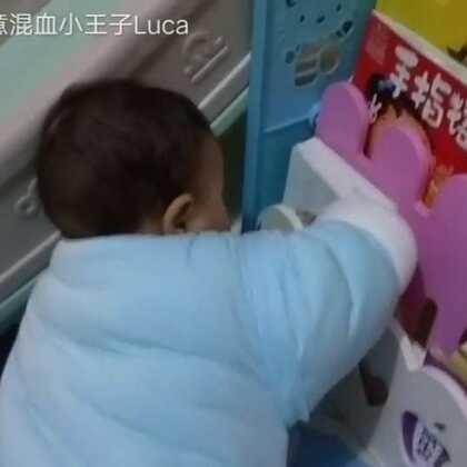 #宝宝#宝宝想拿书,始终不放弃。👍👍👍