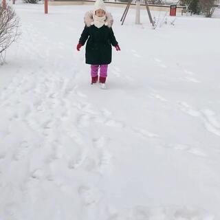 ❄️终于下雪啦啦⛄️#我要上热门@美拍小助手##宝宝##精选#