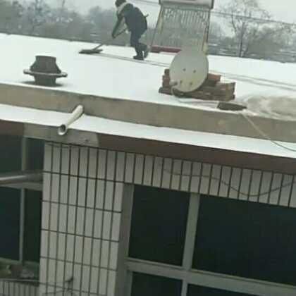 #小日常#今天下雪了,带着二山扫雪,还别说,二山还真顶点用😁我们快扫完的时候,老公回来了,哎,人家就是没有干活的命。视频中说的都是老家话。一不留神,普通话就说不成了。😁😁下雪了,天气冷了,宝宝穿的暖暖的,都😘