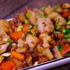 老少皆宜的肉末炒莲藕#美食##川菜##腊八美味粥#