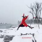 #穿秀##舞蹈#雪地中国红🇨🇳