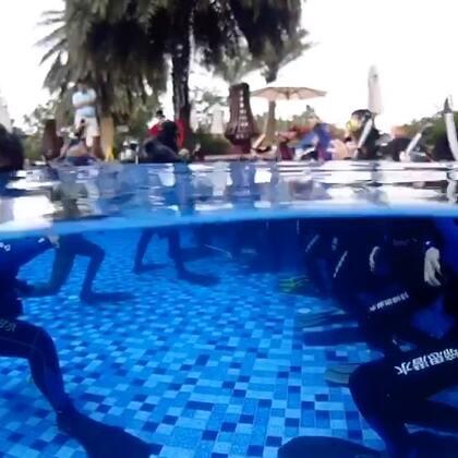 潜水冬令营第二天课程!#潜水##潜水摄影##运动#