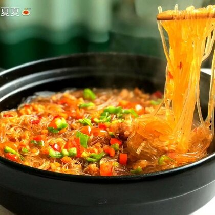 #美食#肉末粉丝煲~专治各种食欲不振😂这么冷的天来上一锅真是美美哒❤️#家常菜#