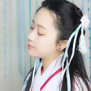 #汉服发型##汉服发型教程##赵灵儿#无假发包剧版赵灵儿发型,当时仙剑一专辑听的还是磁带呢,这首歌好像没有在剧中出现,但是真的好好听>3<头发炸毛😂手残勿喷😂