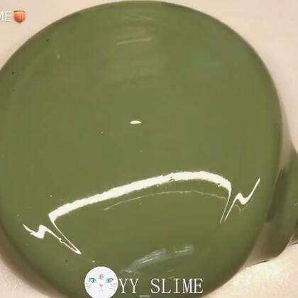 #手工##史莱姆#一个假抹茶 ٩(๑´0`๑)۶